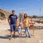 Семейство Андрееви на разкопките на древния град Хераклеа Синтика край Петрич