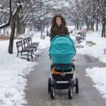 Мими на разходка в сняг с количката в София