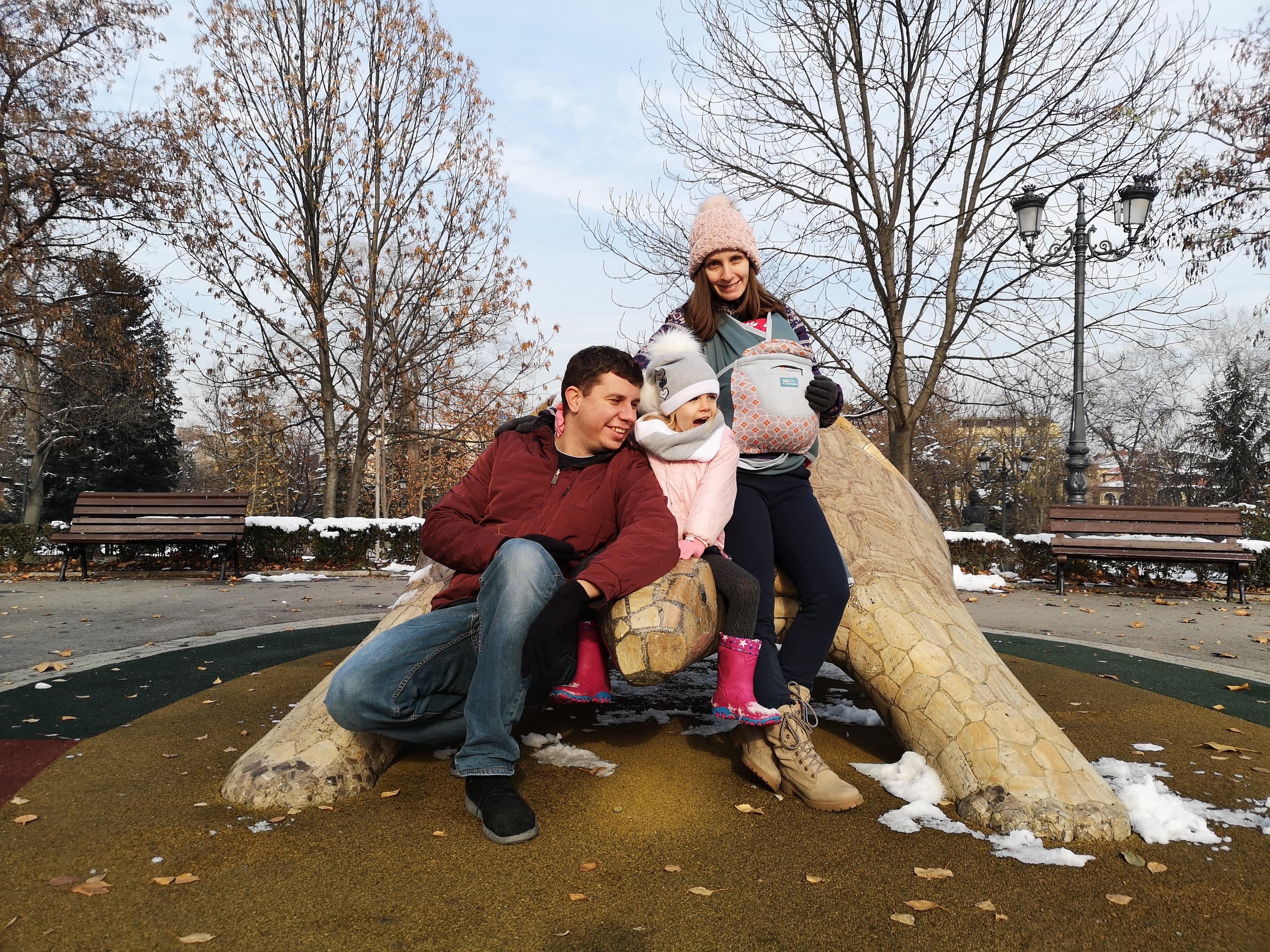 Семейната уикенд снежна разходка из София